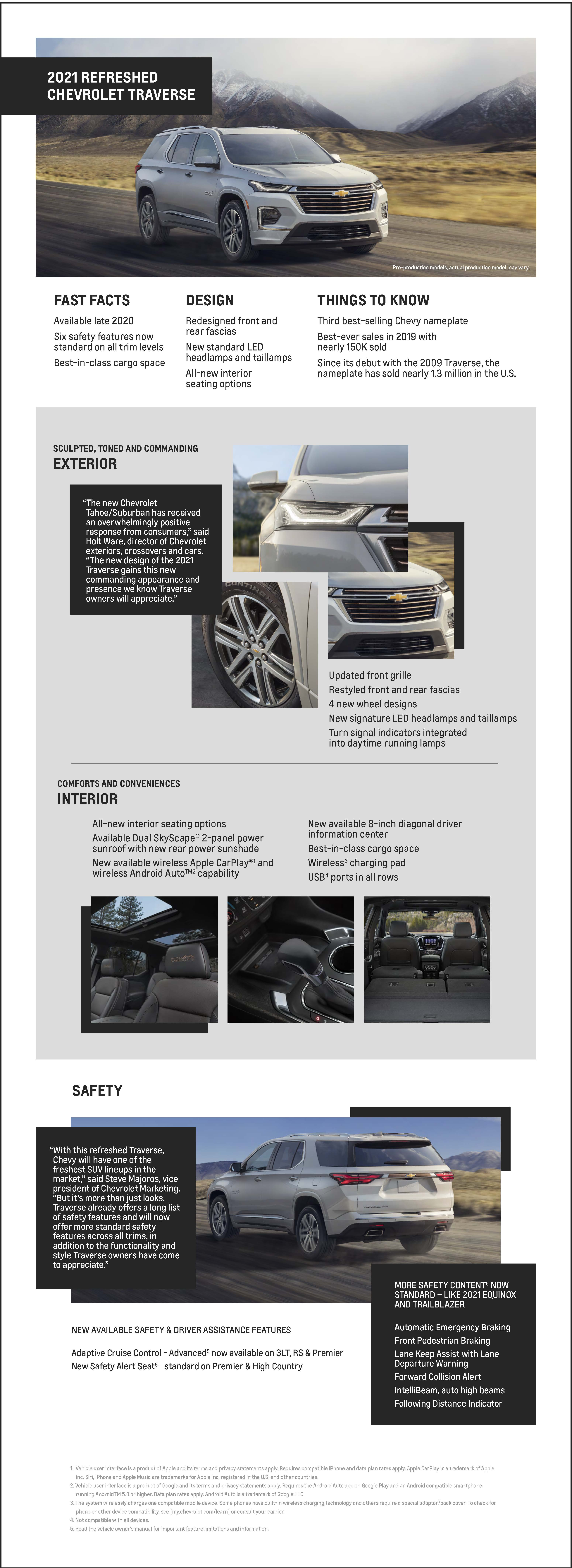 Chevrolet Announces Refreshed 2021 Traverse - Burien ...